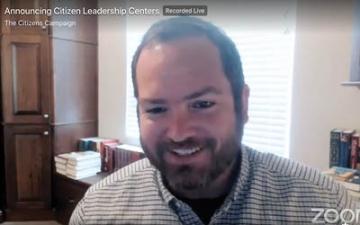 Allen Bolar smiles during the online announcement