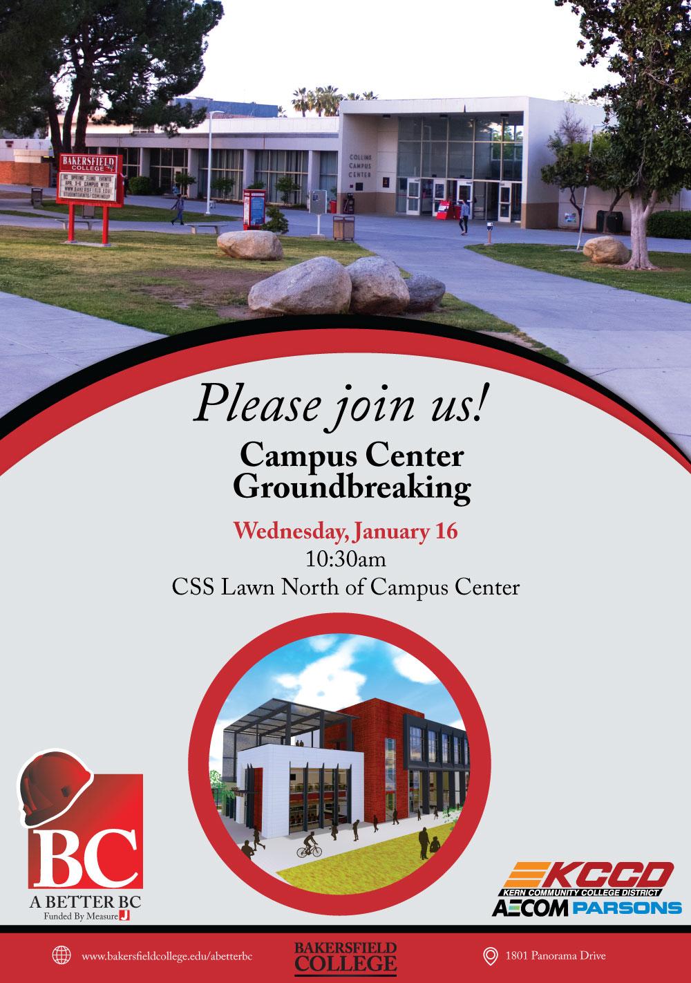 Campus Center Groundbreaking Invite