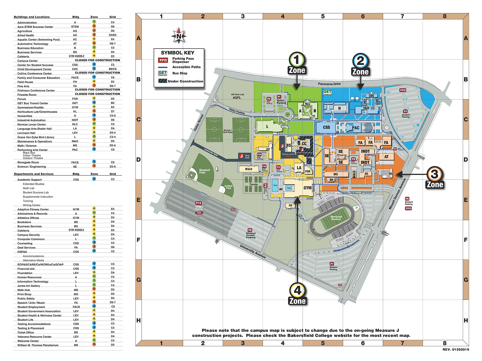Campus Map Bakersfield College