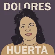 Painted portrait of Dolores Huerta.