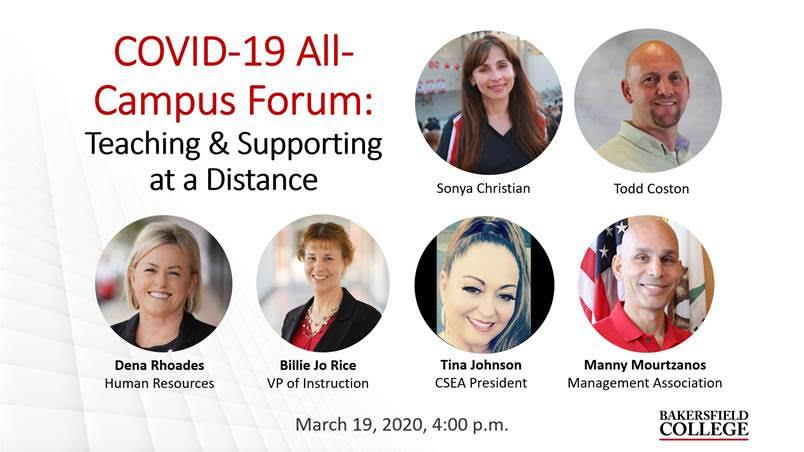 Image showing forum presenters, including Sonya Christian, Todd Coston, Dena Rhoades, Tina Johnson, Billie Jo Rice, and Manny Mourtzanos
