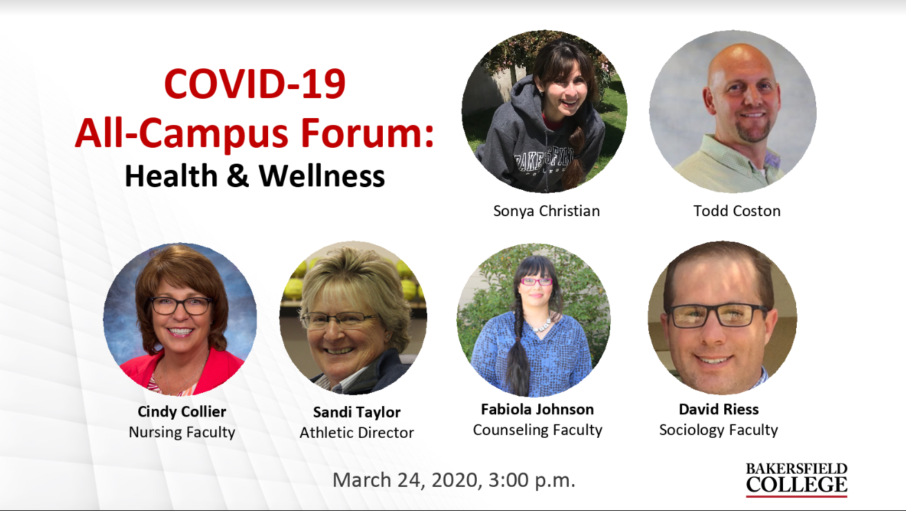 Image showing speakers at March 24 forum: Sonya Christian, Todd Coston, Cindy Collier, Sandi Taylor, Fabiola Johnson, David Riess