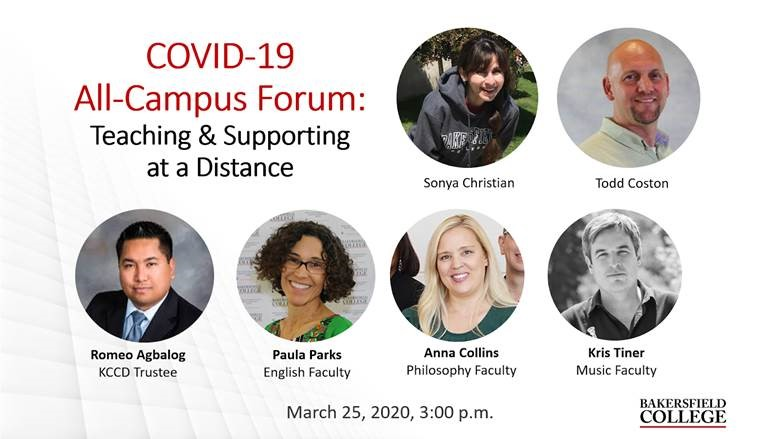 Image showing speakers at March 25 forum: Sonya Christian, Todd Coston, Romeo Agbalog, Paula Parks, Anna Collins, Kris Tiner
