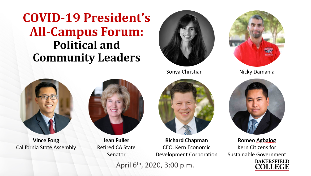 Image showing forum speakers including Sonya Christian, Nicky Damania, Vince Fong, Jean Fuller, Richard Chapman, and Romeo Agbalog