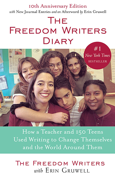 The Freedom Writers Diary book cover with Erin and children.