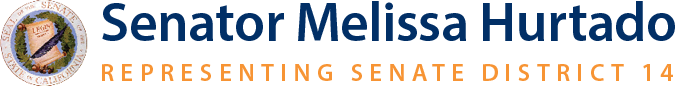 Senator Melissa Hurtado Representing Senate District 14 Logo.