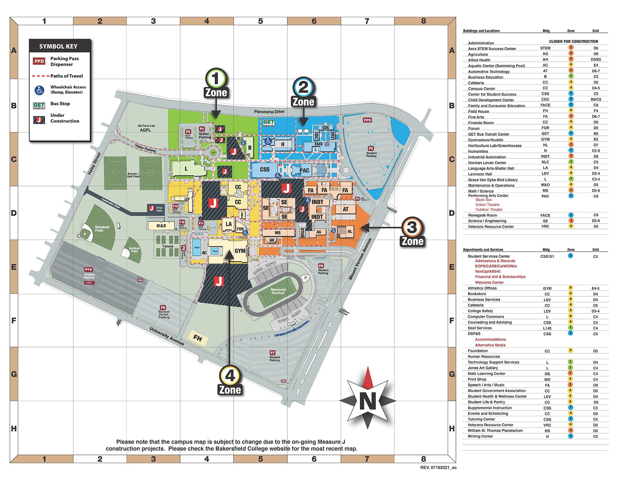 Bakersfield College map