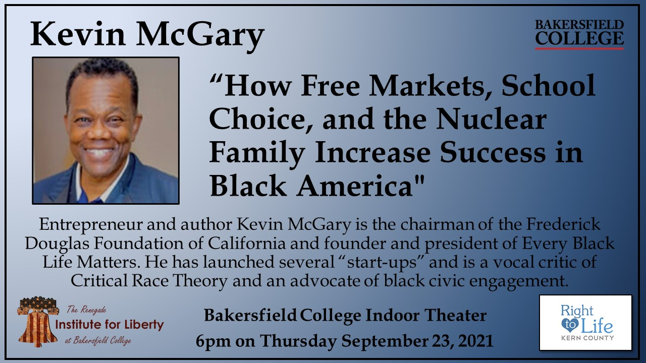 Kevin McGary Event poster.