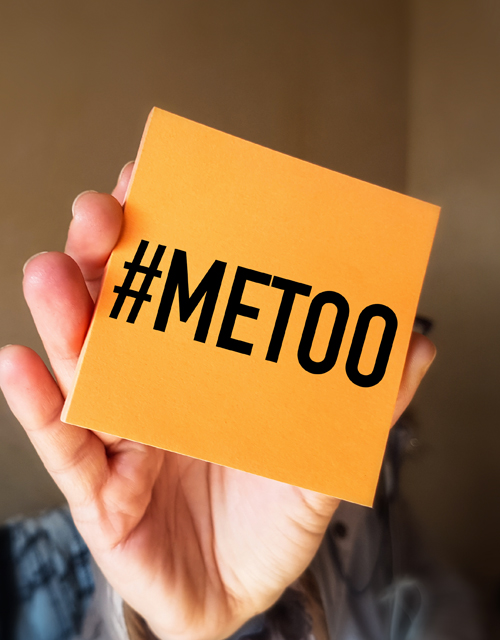 Post it held up with #metoo.