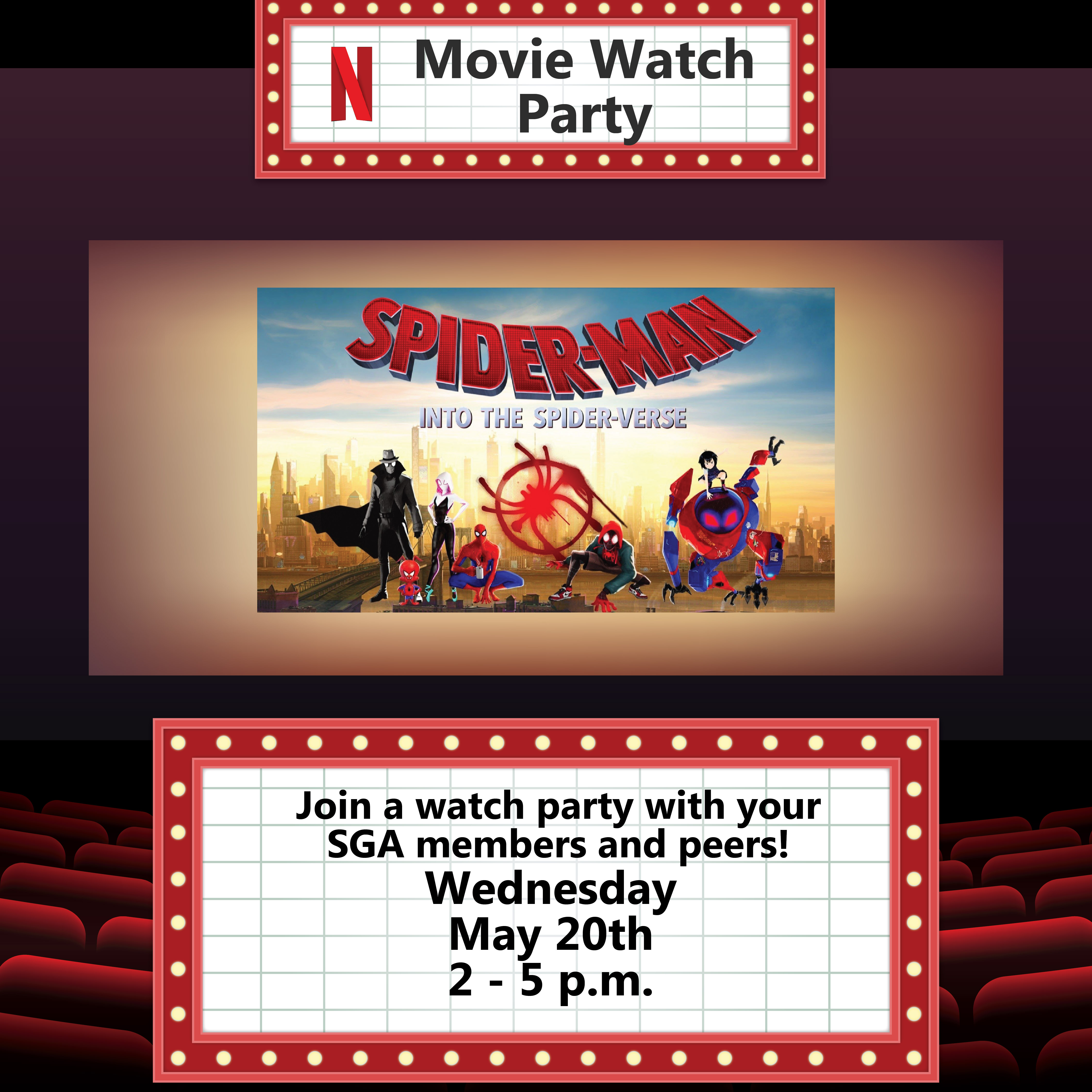 Into the Spider-Verse Netflix Watch Party