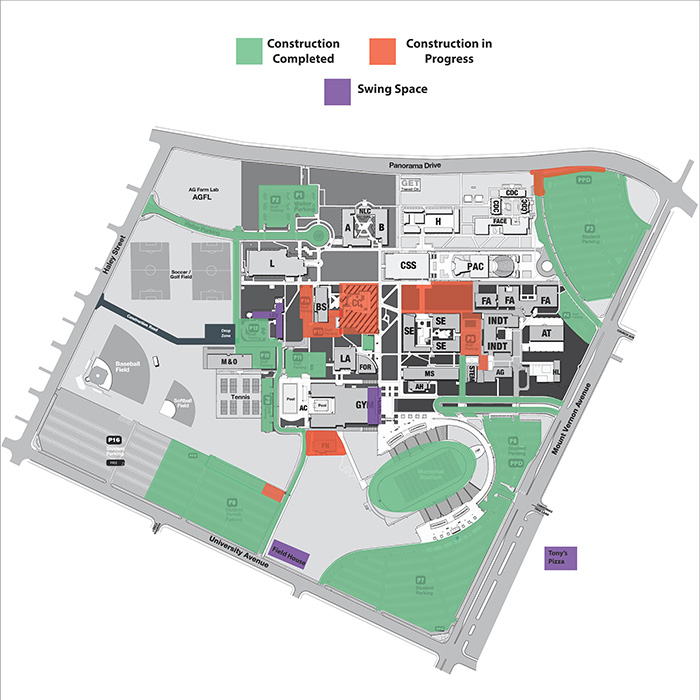 Parking map as of January 24, 2020