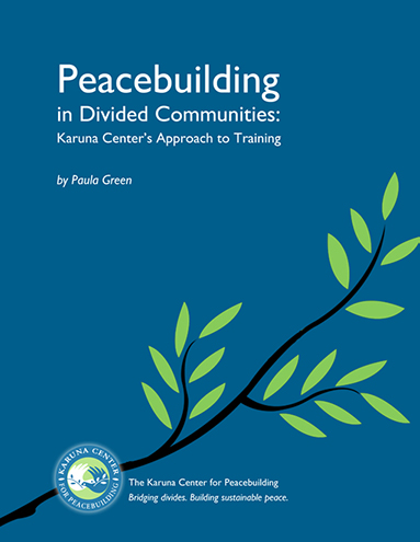 Peacebuilding in Divided Communities book cover.