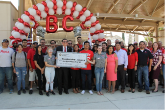 Rudy Salas Presented $1M to BC in 2018