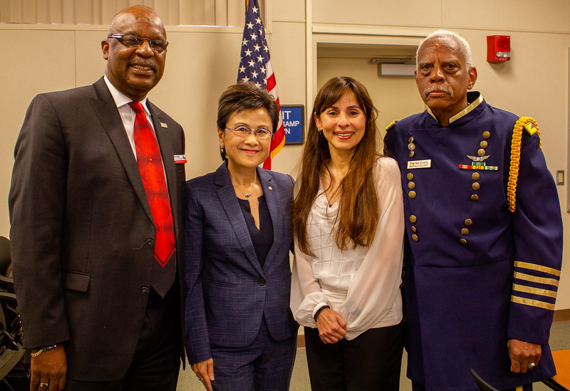 Sonya Christian with Steve Watkin, Karen Goh, and Charles Everly at the 2020 African American Leadership Breakfast