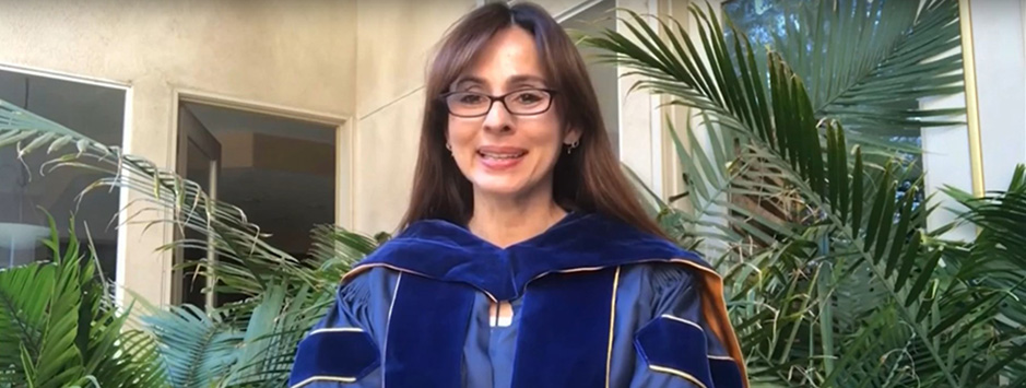 President Sonya Christian during the 2020 Virtual Commencement.
