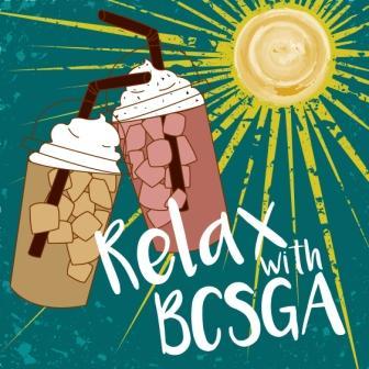 Relax with BCSGA logo.