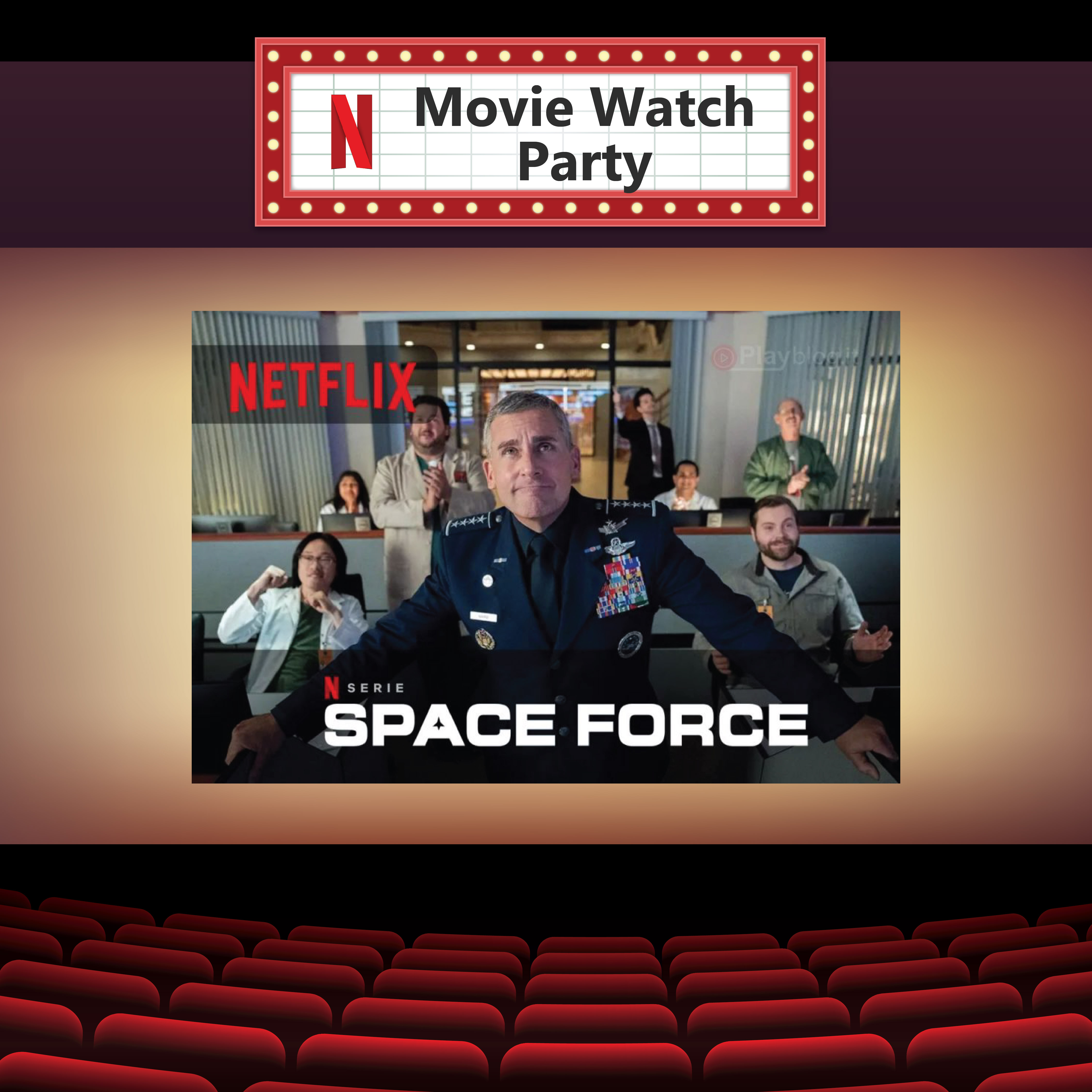 Space Force Netflix Party