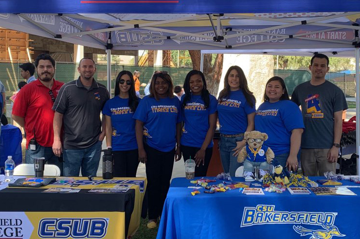 Eight CSUB representatives at Transfer Day 2019