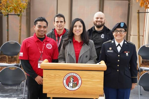 Eileen Garcia and the BC Veterans Club
