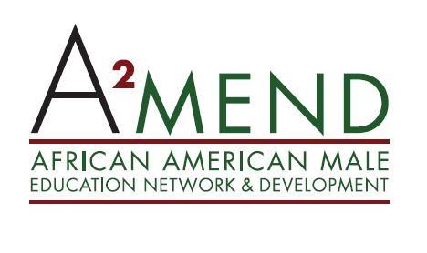 A2MEND African American Male Education Network & Development logo.