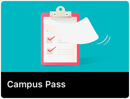 Campus Pass icon has a clipboard with checkmarks.