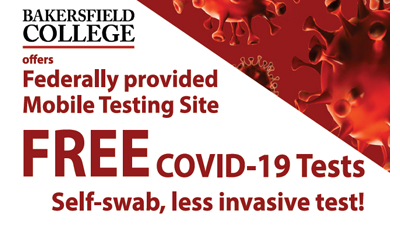 Free COVID-19 tests at BC on 9/22/20