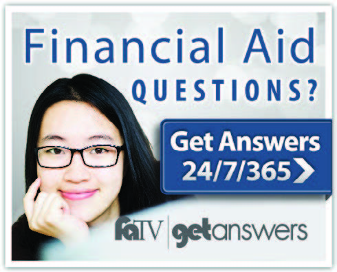 Financial Aid Questions? Get Answers 24/7/365. FATV, get answers.