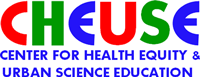 Center for health equity and urban science education logo