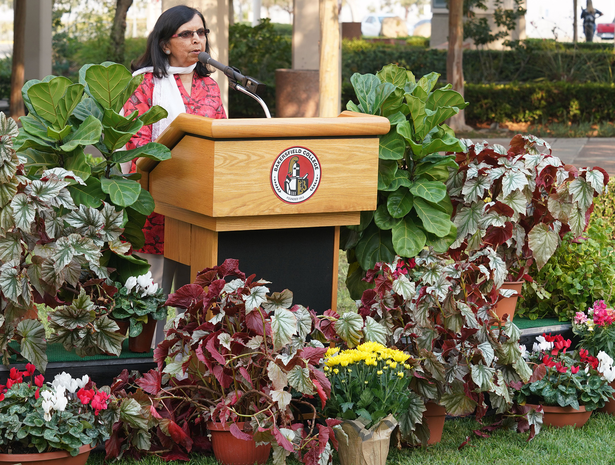 Naina Patel at the groundbreaking for the first Peace Garden