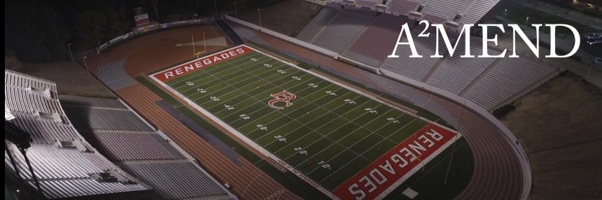 Memorial Stadium Football Field.