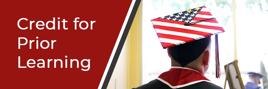 Graduation cap decorated as American Flag.