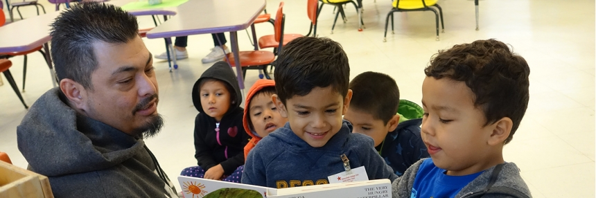 Child Development Class Reading Time with kids