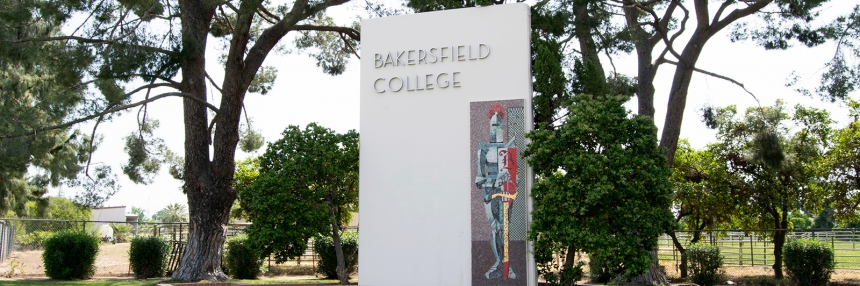 Bakersfield College Renegade Knight sign