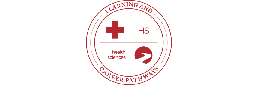 Learning & Career Pathways Health Sciences HS, logo.