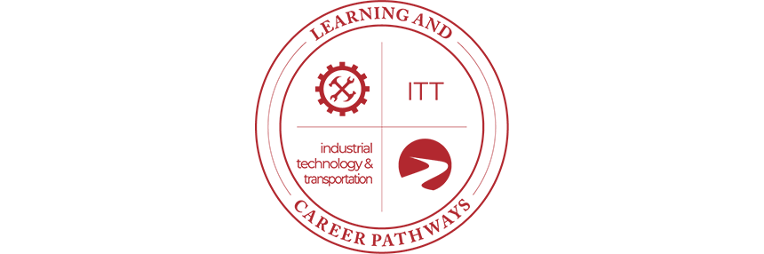 Learning & Career Pathways Industrial Technology & Transportation ITT, logo.