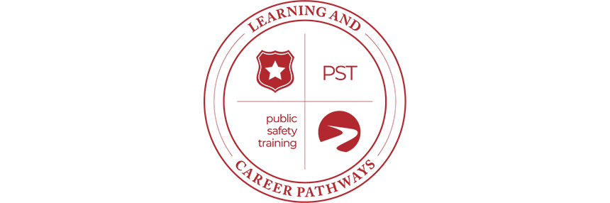 Learning & Career Pathways Public Safety Training PST, logo.