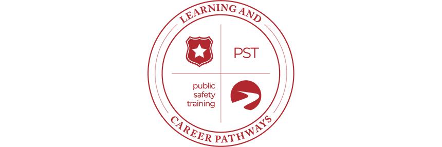 Learning & Career Pathways Public Safety Training PST, logo.