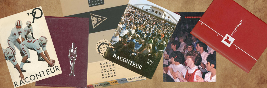 Collection of BC Raconteur yearbooks.