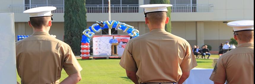 Marines attending BC Vet Fest