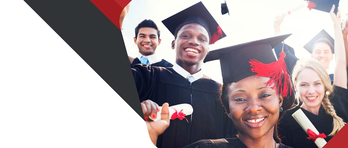 Students graduate from college