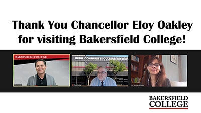 Chancellor Oakley, Chancellor Burke, and Sonya Christian on Zoom