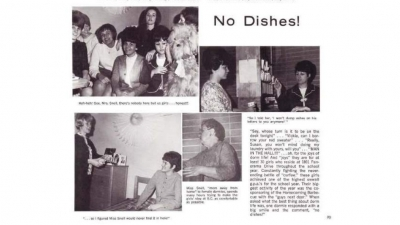 Passage about student housing from the 1966 Raconteur yearbook