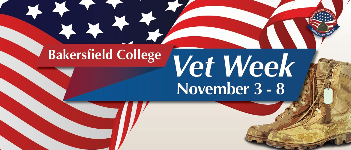 promotional image for Bakersfield College Vet Week