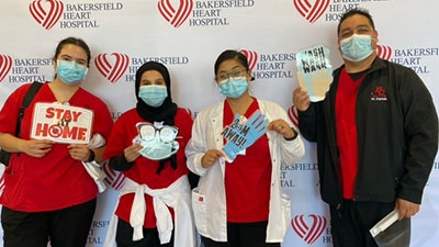 Nursing Students Pose at BHH