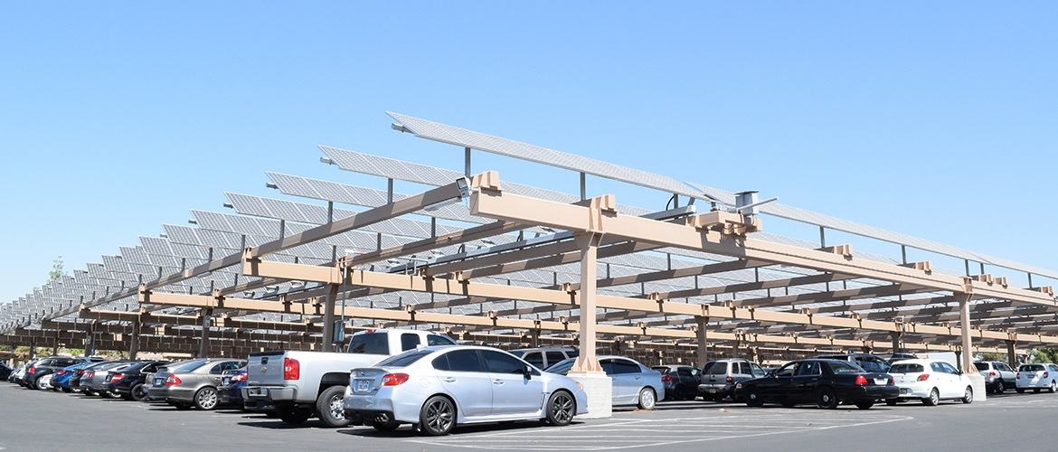 Parking Lot with Solar Panel
