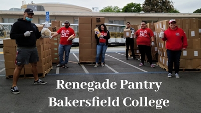 Renegade pantry workers with boxes