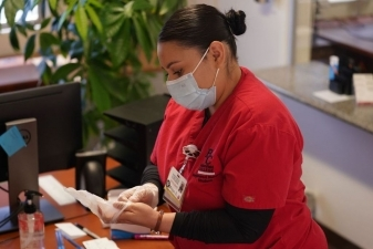 Renegade Nursing Student preparing to administer vaccines