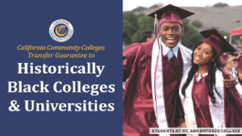 CCC HBCU Transfer Guarantee - Two graduates at a Commencement Celebration