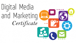 Digital Media and Marketing Certificate graphic
