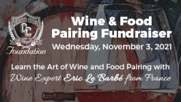 Wine and Food Pairing Fundraiser - Wed. 11/3/2021